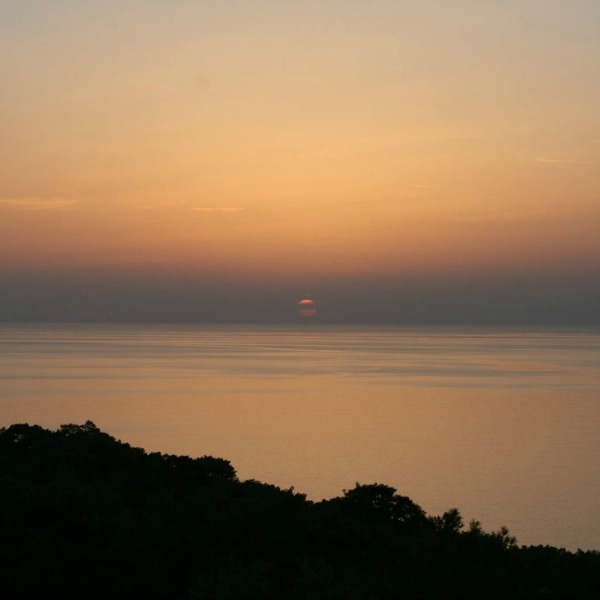 sunset over Turkish sea